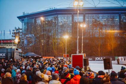 Zuschauer beim BIathlon auf Schalke