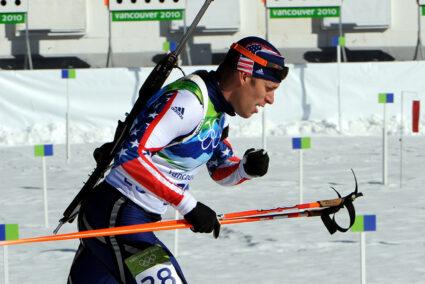 Biathlonläufer auf Schalke
