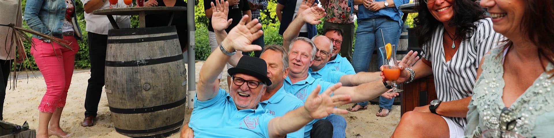 Partystimmung am hoteleigenen Beach in Bielefeld