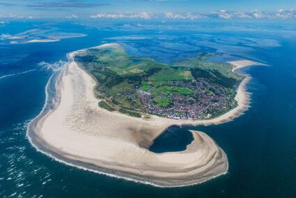 Luftansicht der Insel Borkum