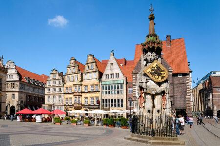 Bremer Roland auf dem Marktplatz in Bremen