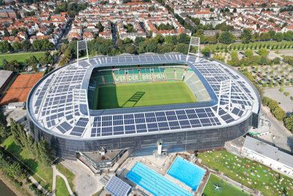 Luftbild vom Weserstadion in Bremen