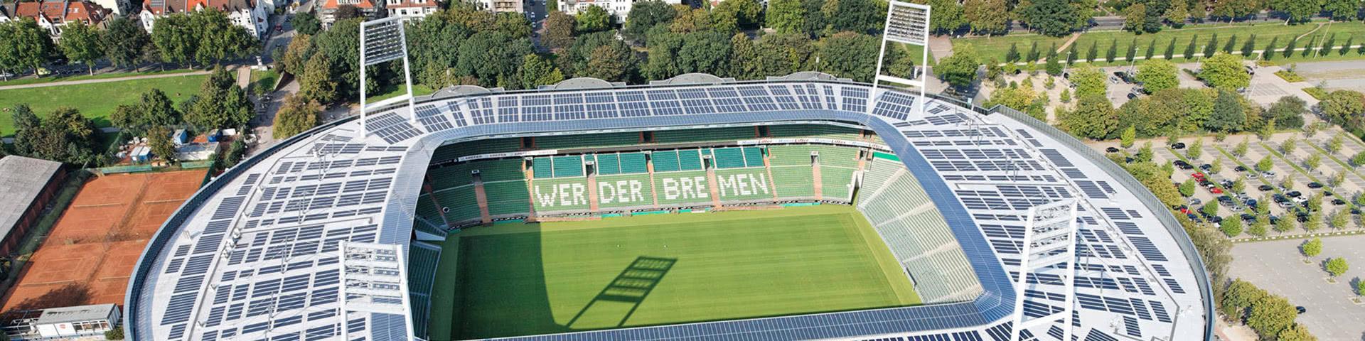 Luftbild des Weserstadions in Bremen