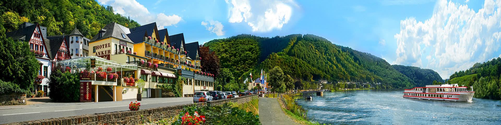 Außenansicht Hotel Honker in Brodenbach