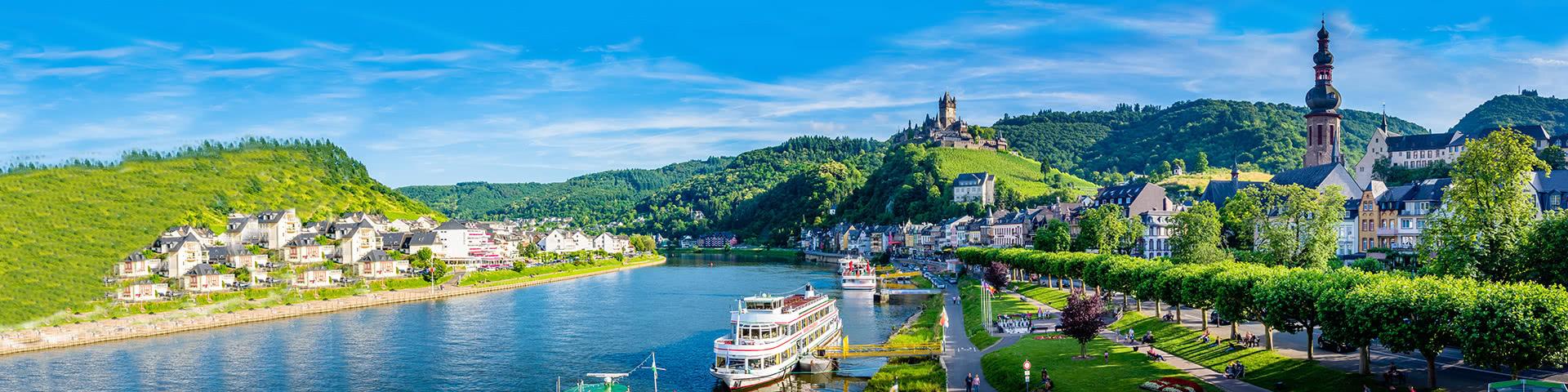 Mosel, Altstadt und Reichsburg in Cochem