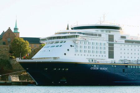 Color-Line-Schiff angelegt in Oslo