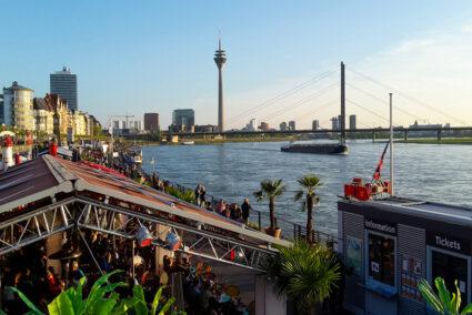 Kasematten am Rheinufer in Düsseldorf