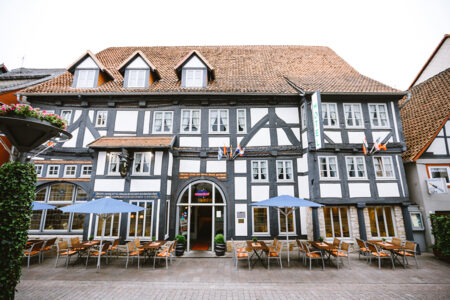 Außenansicht vom Hotel Stadt Kassel in Rinteln am Extertal