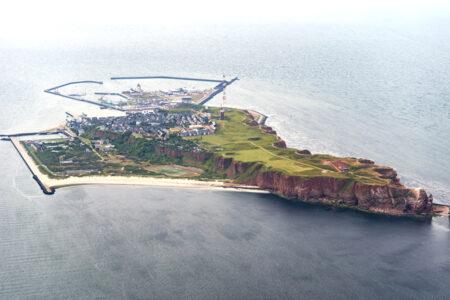 Luftansicht von der Insel Helgoland