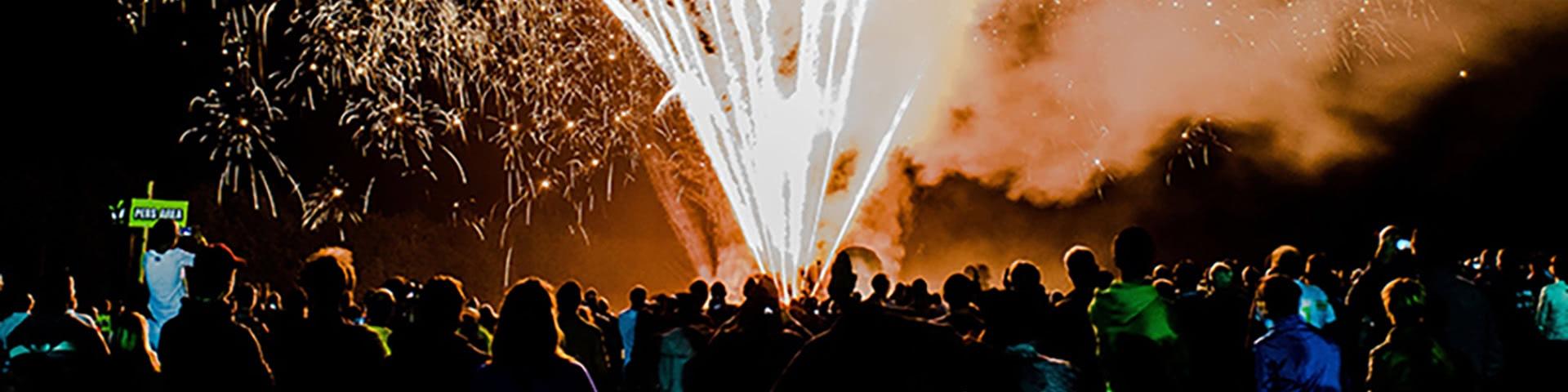 Großes Feuerwerk beim Feuerwerksfestival in Kalkar