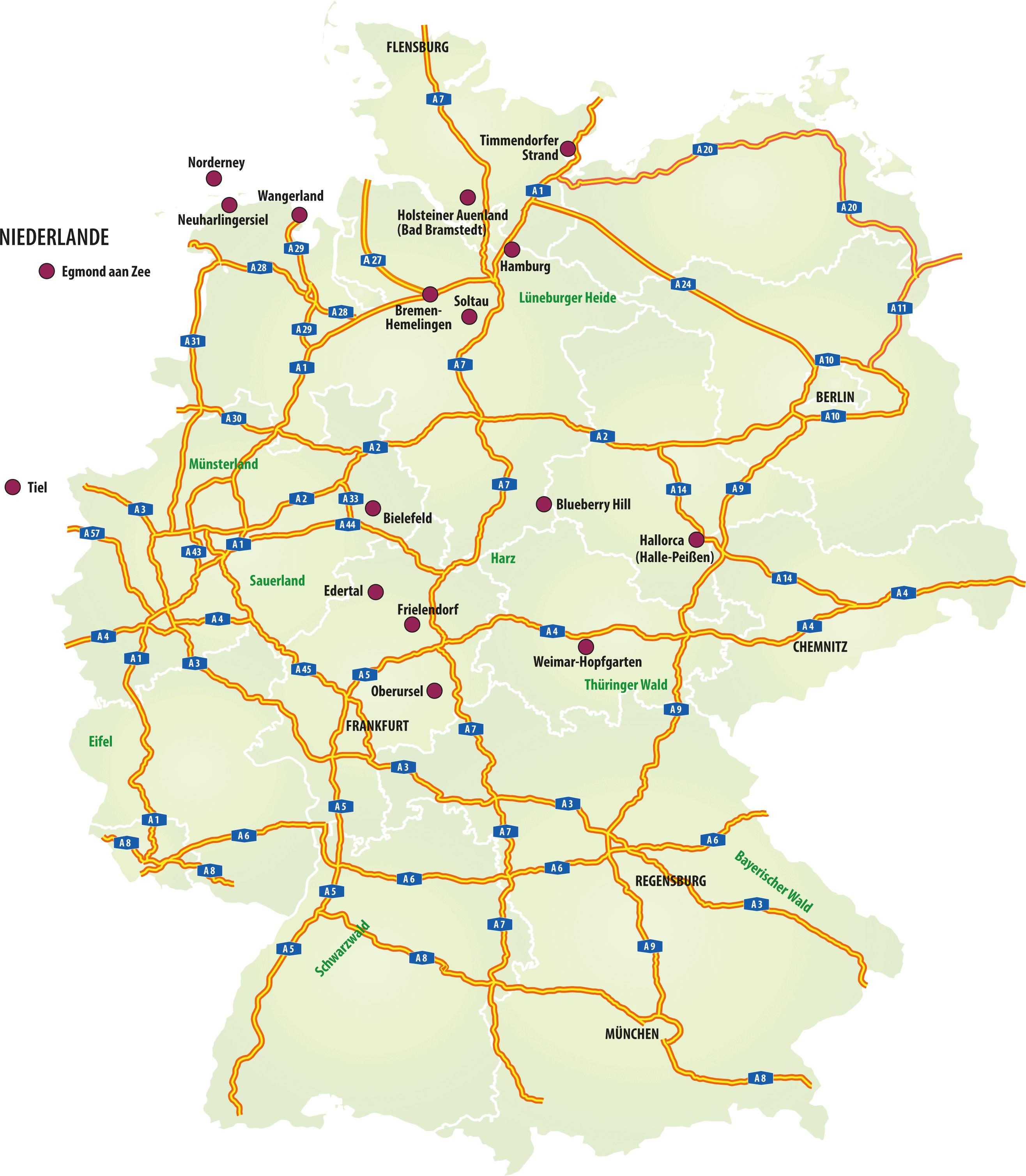 Karte Partyzug Ziele