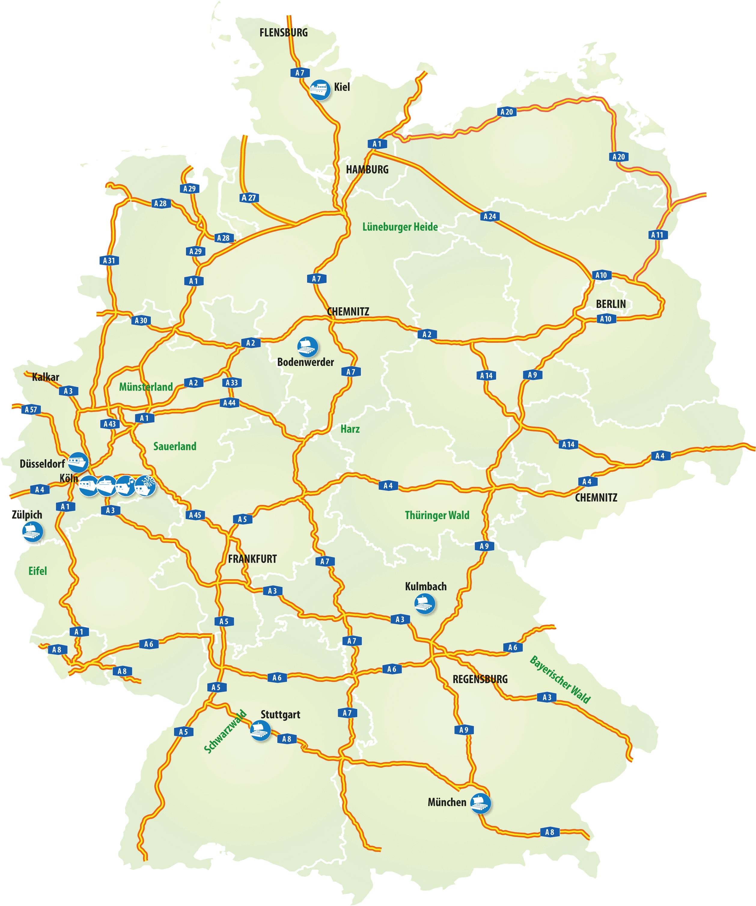 Kurz Kreuzfahrten und Schiffstouren bei Müller