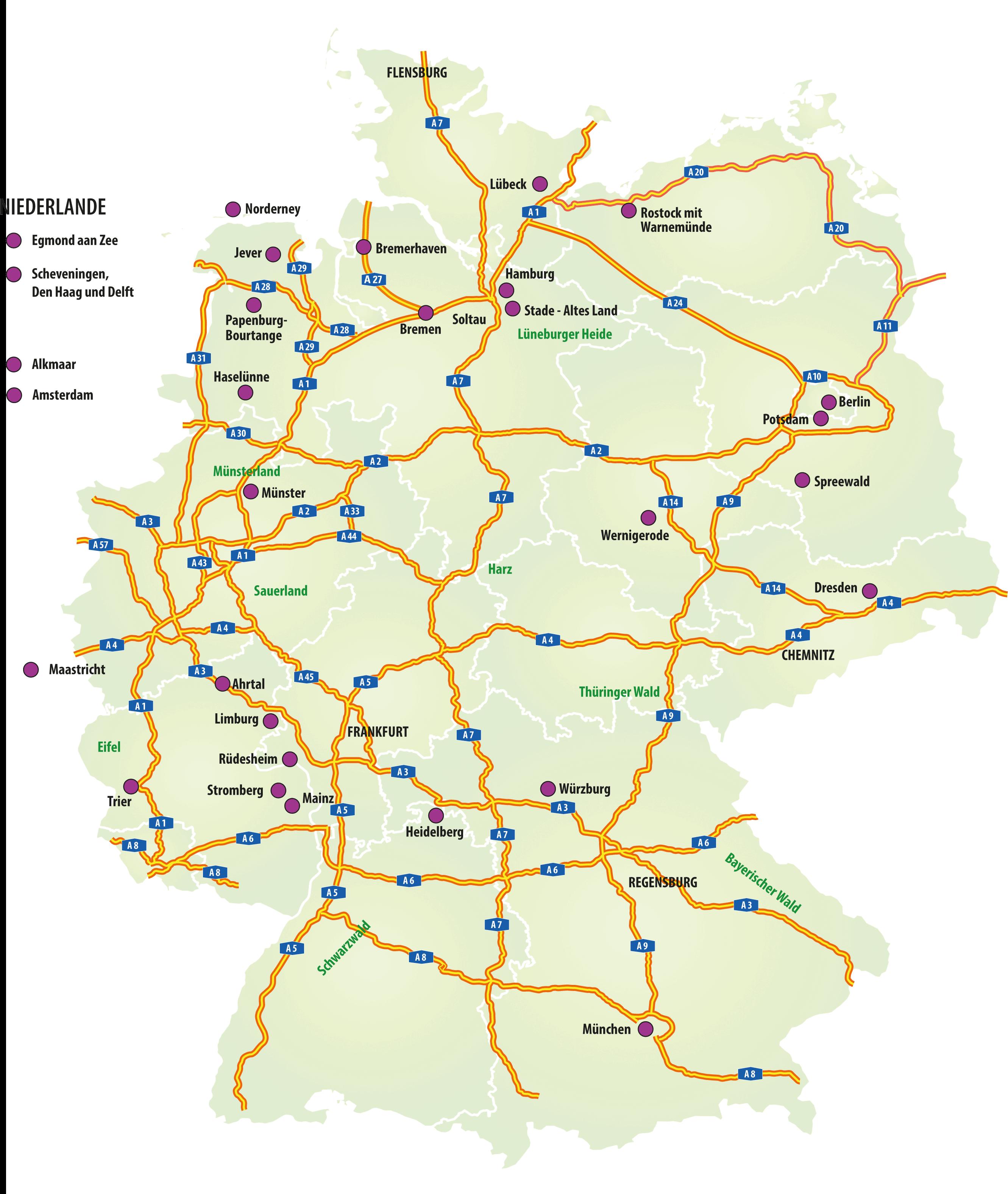 Städtetrips bei Müller