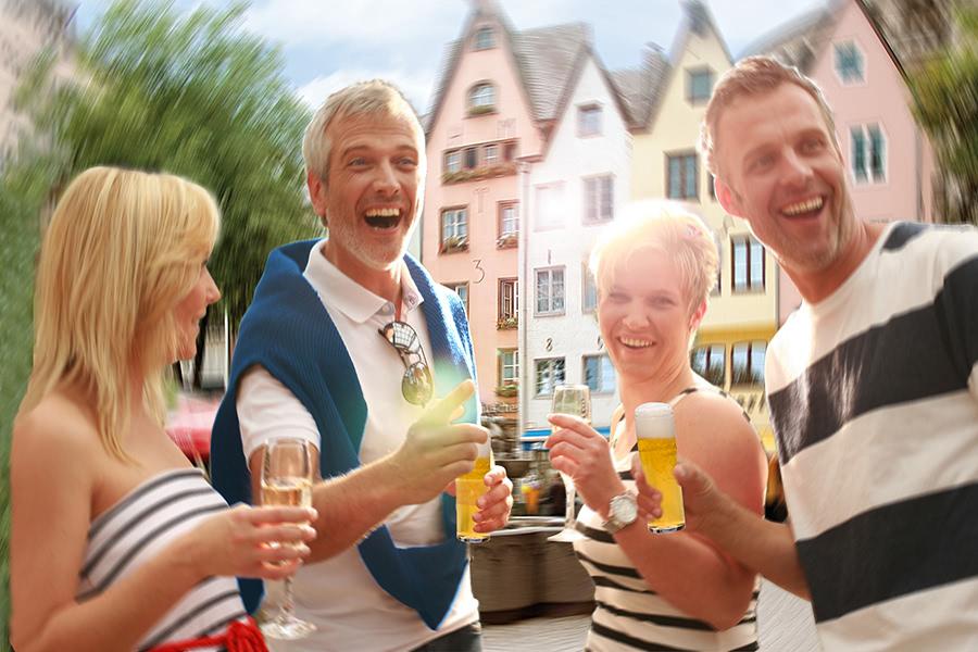 Gute Laune in der Kölner Altstadt