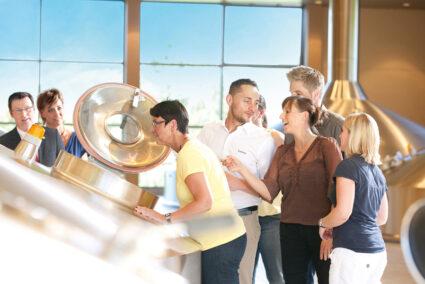 Produktionsbesichtigung der Krombacher Brauerei