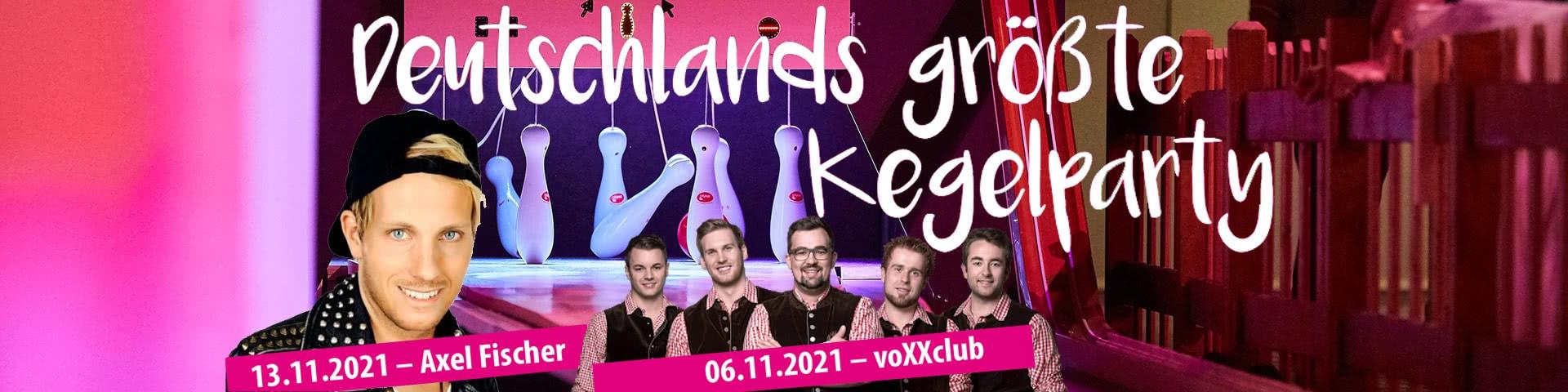 Deutschlands größte Kegelparty 2021 mit Axel Fischer und voXXclub