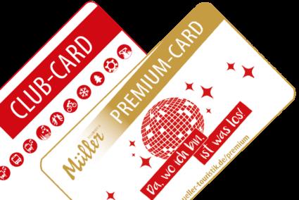 Müller Club-Card und Müller Premium-Card