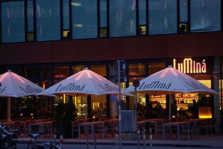 Terasse im B&B Hotel Münster-Hafen
