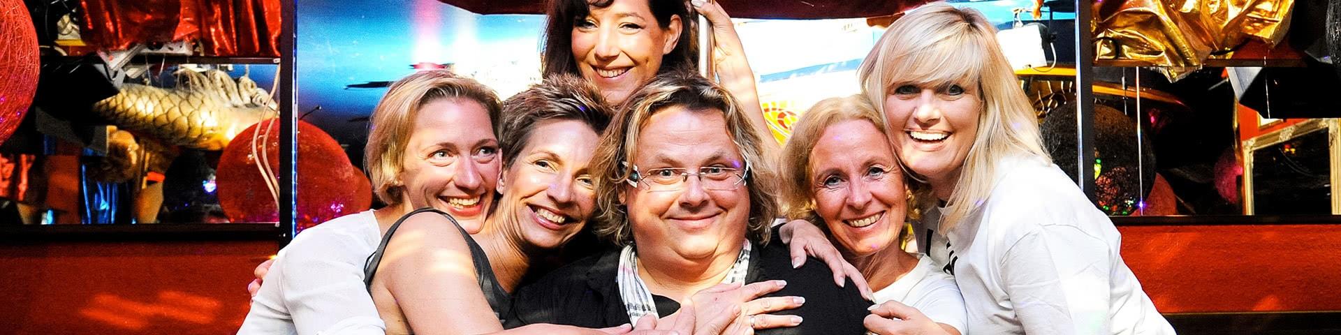 Frauengruppe mit Tante Jens auf Norderney
