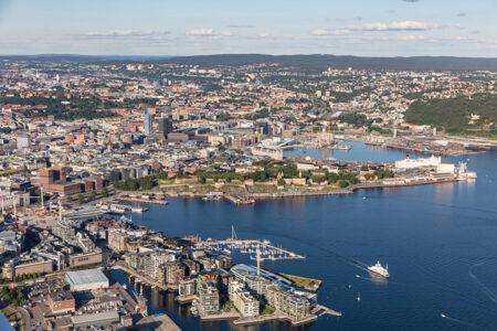 Luftbild von der Stadt Oslo