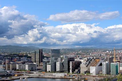 Blick auf die Stadt Oslo