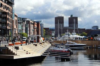 Boote im Hafen von Oslo