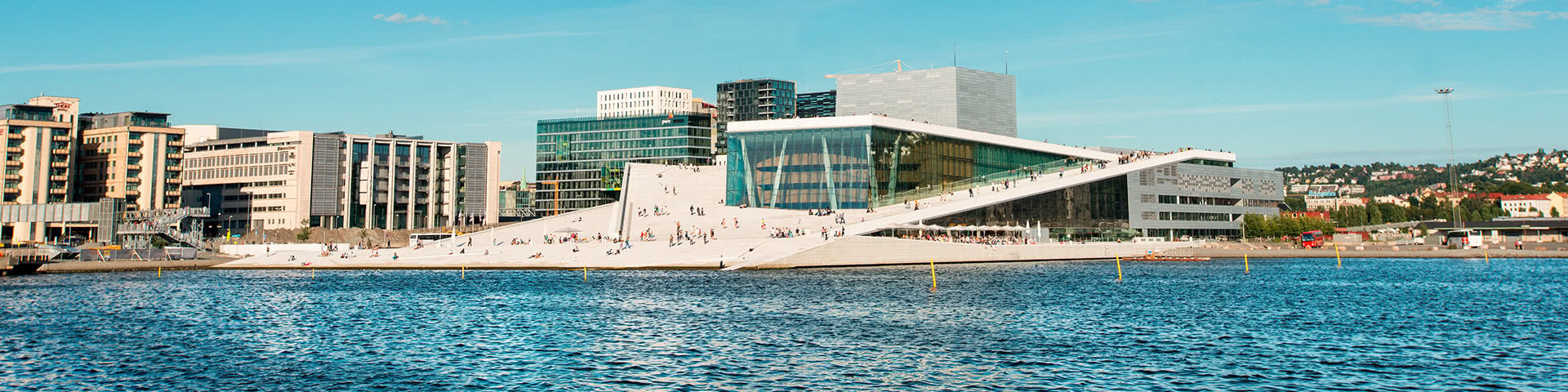 Blick auf die Oper in Oslo