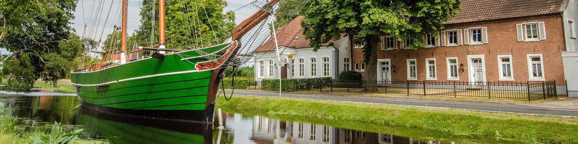 Plattbodenschiff Kuff Margaretha in Papenburg