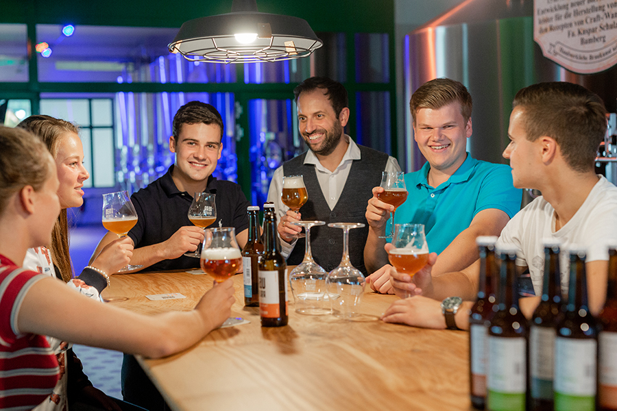 Bierverköstigung in der Potts Brauerei in Oelde