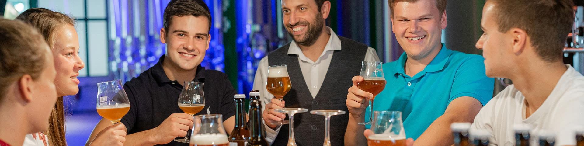 Bierverkostung in der Potts Brauerei