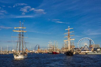 Segelschiffe auf der Hanse Sail 2012 in Rostock