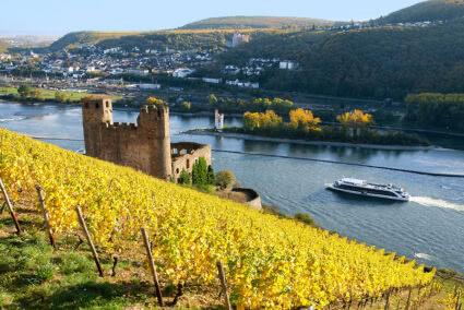 Schifffahrt auf dem Rhein in Rüdesheim