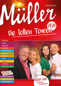 Titelblatt Müller-Touristik-Katalog 2021