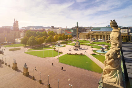 Panorama Schlossplatz Stuttgart