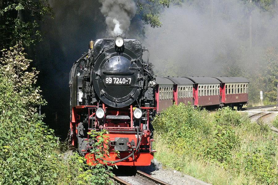 Fahrt mit der Schmalspurbahn auf den Brocken