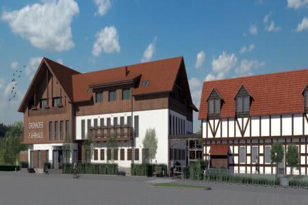 Außenasicht Hotel Grohnder Fährhaus