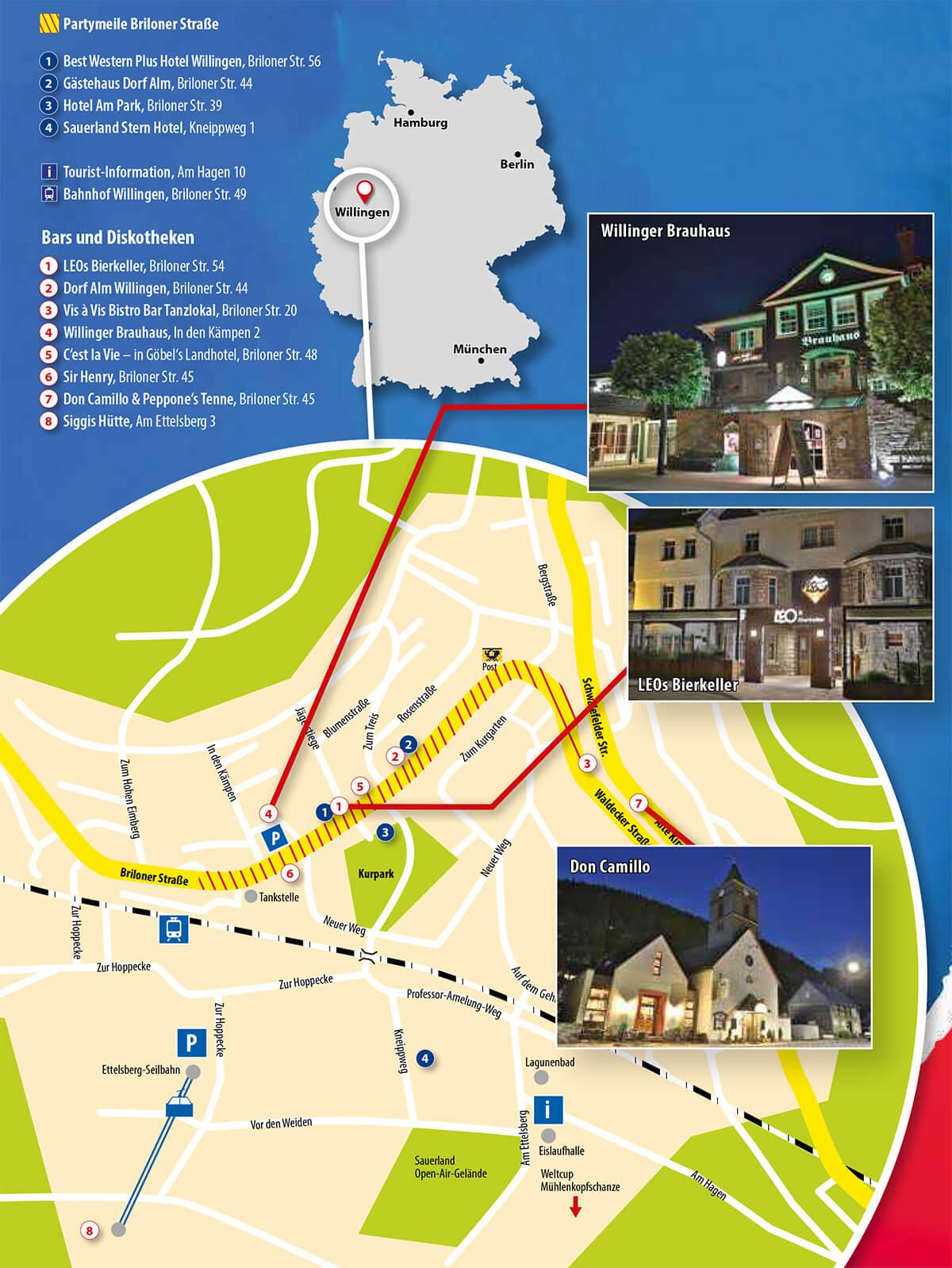 Übersichtskarte Briloner Straße Willingen