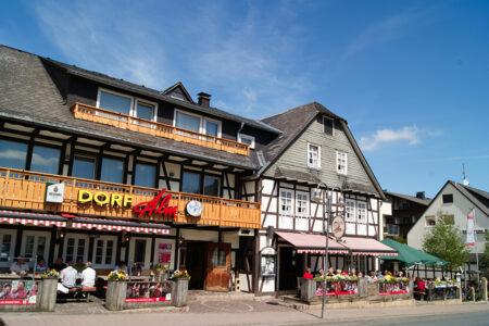 Außenansicht Hotel Dorf Alm in Willingen