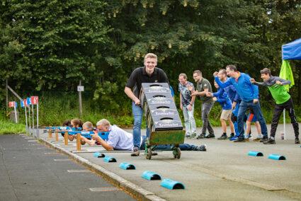 Gruppe bei der Biathlonteilnahme in Winterberg