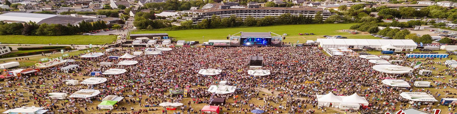 Luftbild von der Veranstaltungsfläche SchlagerStern Willingen