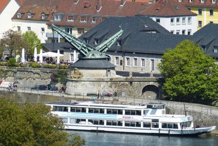 Schifffahrt auf dem Main in Würzburg