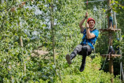 Zipline fahren am Zülpicher See